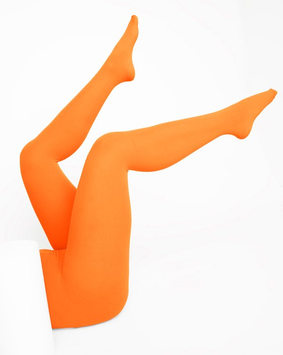 Neon-Orange Womens Nylon Tights Style# 1001 | We Love Colors