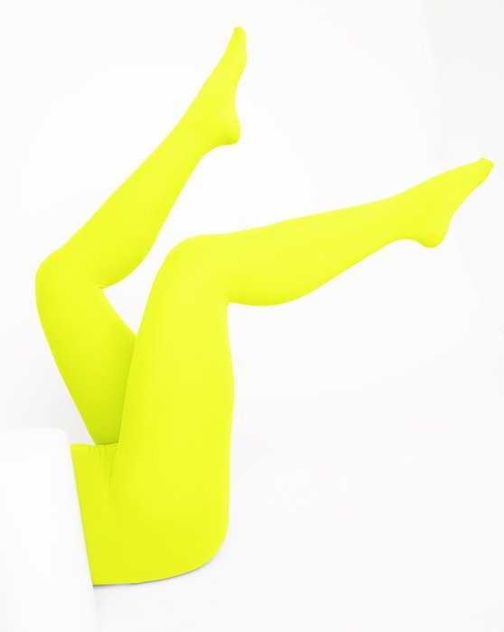 Neon-Yellow Womens Nylon Tights Style# 1001 | We Love Colors