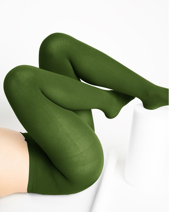 Olive-Green Womens Nylon Tights Style# 1001 | We Love Colors