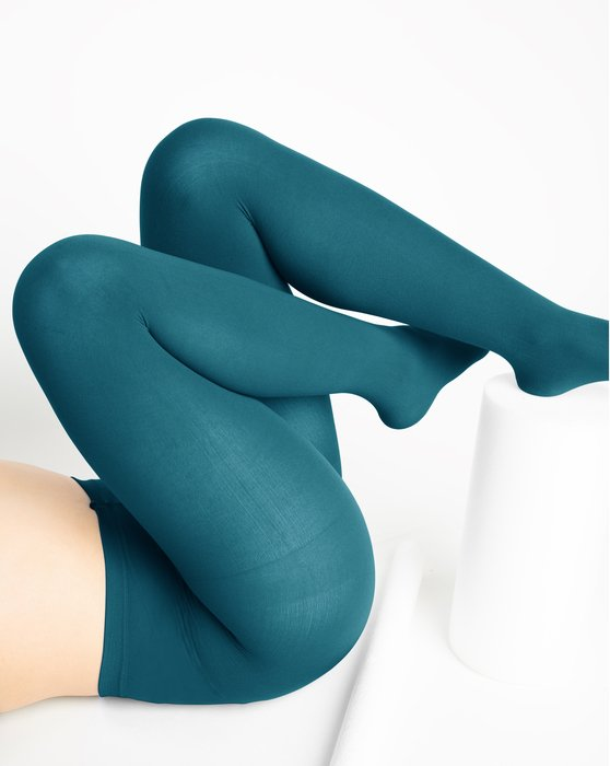 Teal Womens Nylon Tights Style# 1001 | We Love Colors