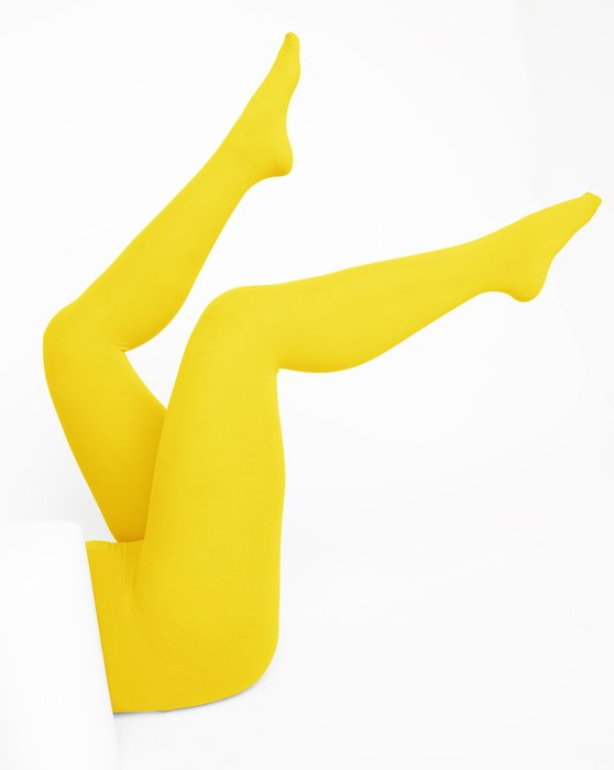 Yellow Nylon Tights Style# 1001 | We Love Colors
