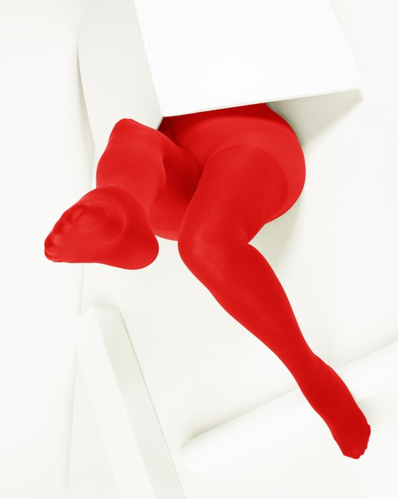 Red Womens Plus Sized Nylon/Lycra Tights Style# 1008 | We Love Colors