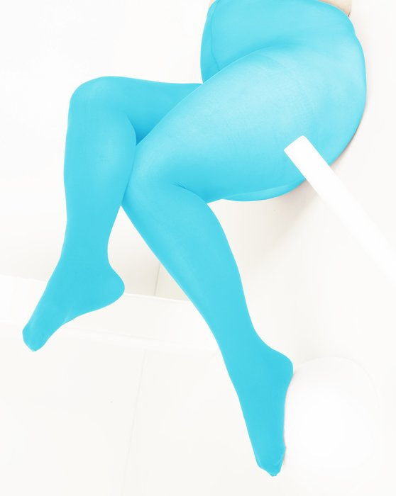 Neon-Blue Womens Nylon Spandex Tights Style# 1023 | We Love Colors