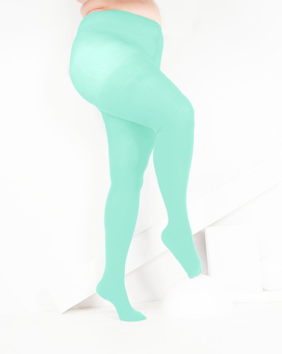 Pastel Mint Nylon Spandex Tights Style# 1023 | We Love Colors