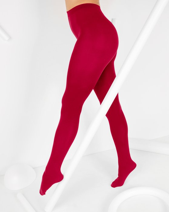 Red Nylon Spandex Tights Style# 1023 | We Love Colors