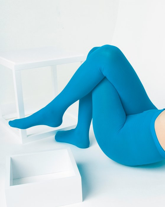 Turquoise Womens Nylon Spandex Tights Style# 1023 | We Love Colors