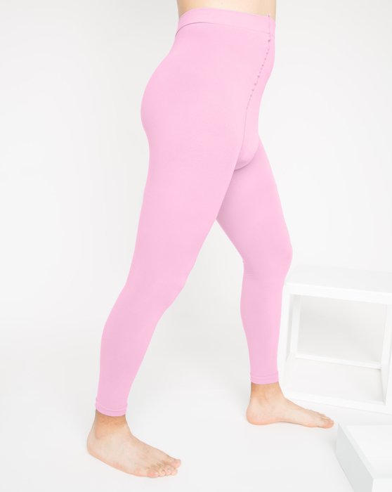 Light-Pink Womens Microfiber Ankle Length Footless Tights Style# 1025 | We Love Colors