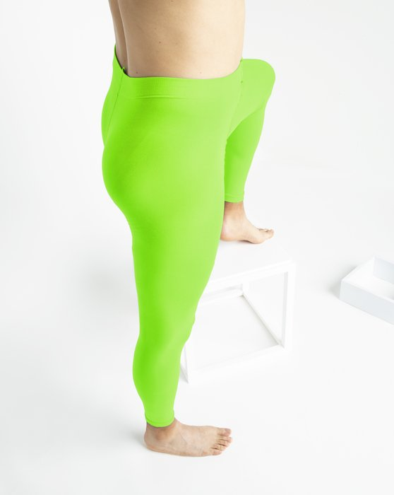 Neon-Green Womens Microfiber Ankle Length Footless Tights Style# 1025 | We Love Colors
