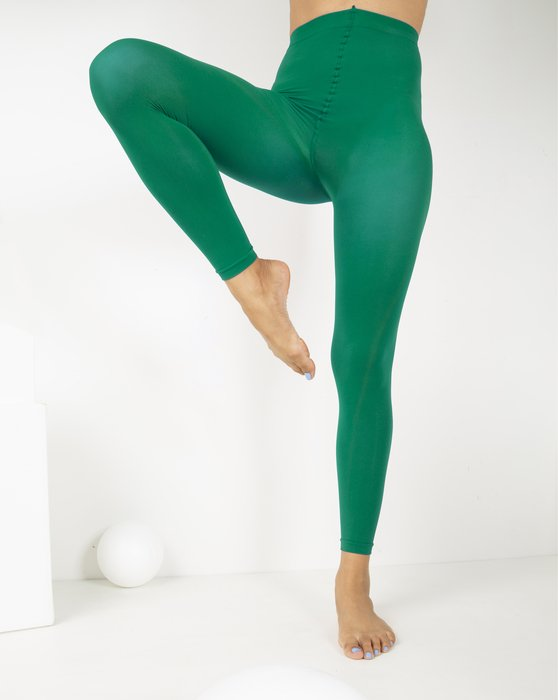 Emerald Womens Microfiber Ankle Length Footless Tights Style# 1025 | We Love Colors