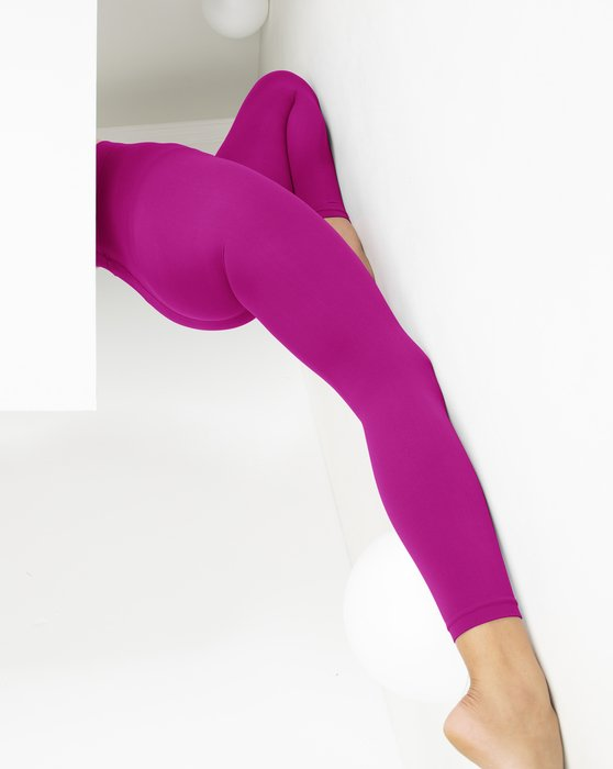 Fuchsia Microfiber Ankle Length Footless Tights Style# 1025 | We Love Colors