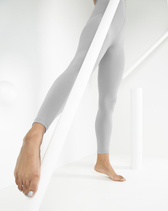 Light-Grey Womens Microfiber Ankle Length Footless Tights Style# 1025 | We Love Colors