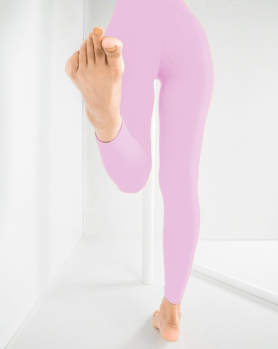 Light Pink Microfiber Ankle Length Footless Tights Style# 1025 | We Love Colors