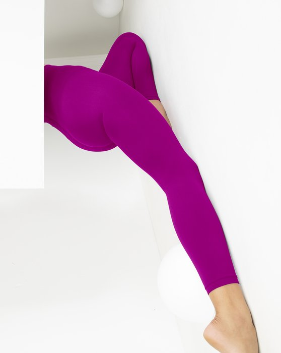 Magenta Womens Microfiber Ankle Length Footless Tights Style# 1025 | We Love Colors