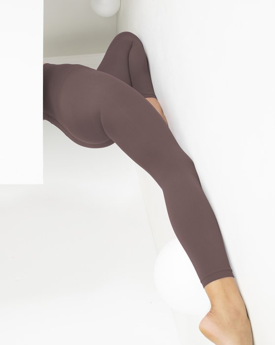 Mocha Microfiber Ankle Length Footless Tights Style# 1025 | We Love Colors