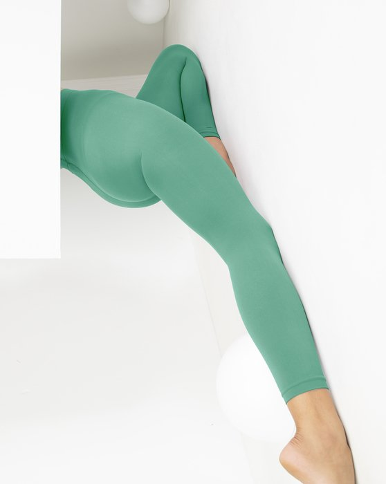 Scout-Green Womens Microfiber Ankle Length Footless Tights Style# 1025 | We Love Colors