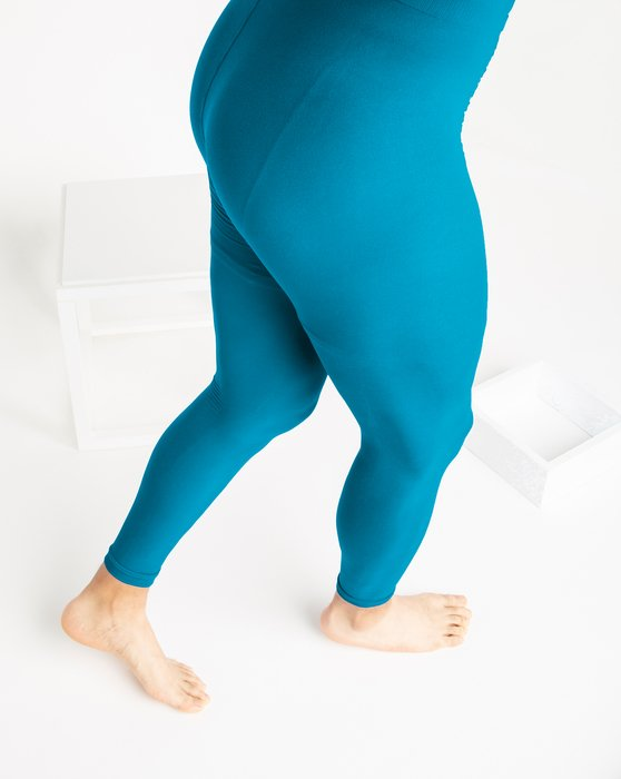 Turquoise Microfiber Ankle Length Footless Tights Style# 1025 | We Love Colors