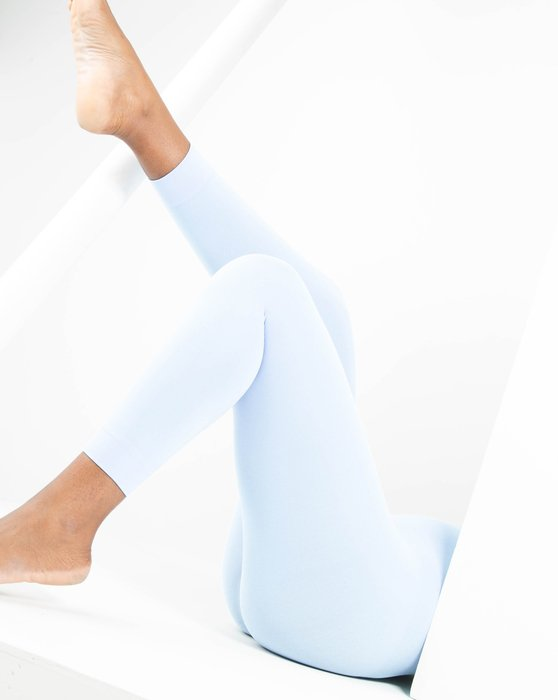 Baby-Blue Womens Microfiber Footless Tights Style# 1037 | We Love Colors