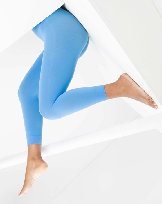 Medium-Blue Womens Microfiber Footless Tights Style# 1037 | We Love Colors