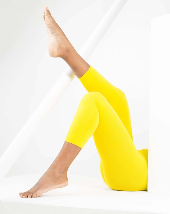 Yellow Womens Microfiber Footless Tights Style# 1037 | We Love Colors