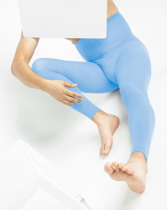 Sky Blue Womens Plus Sized Nylon/Lycra Footless Tights Style# 1041 | We Love Colors