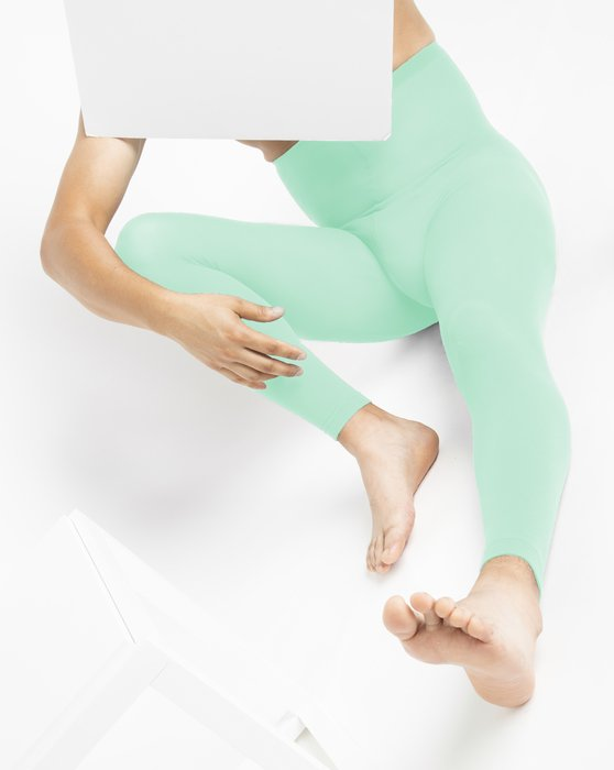 Pastel Mint Plus Sized Nylon/Lycra Footless Tights Style# 1041 | We Love Colors
