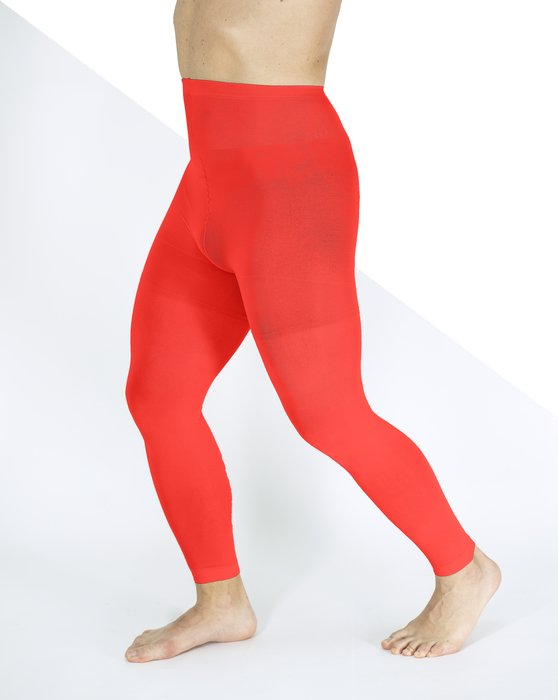Scarlet Red Plus Sized Nylon/Lycra Footless Tights Style# 1041 | We Love Colors