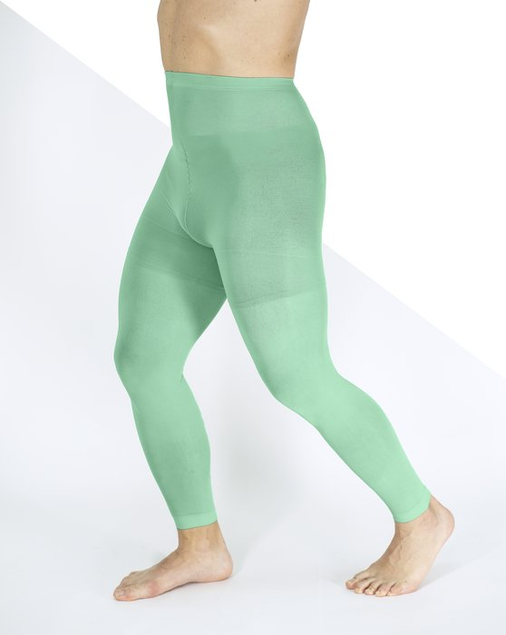 Scout Green Plus Sized Nylon/Lycra Footless Tights Style# 1041 | We Love Colors