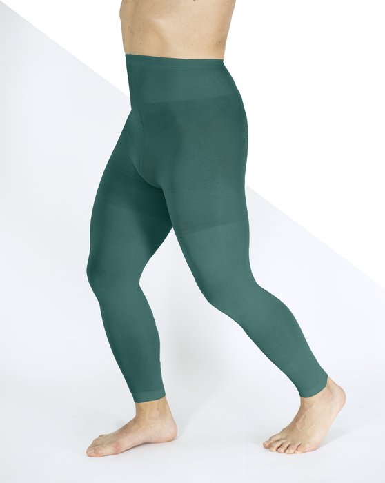 Spruce Green Plus Sized Nylon/Lycra Footless Tights Style# 1041 | We Love Colors