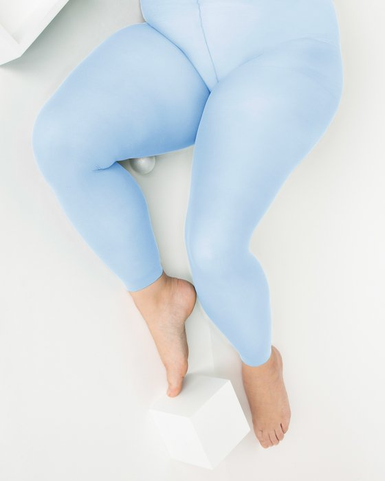 Baby Blue Plus Sized Nylon/Lycra Footless Tights Style# 1041 | We Love Colors