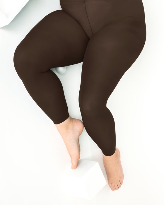 Brown Plus Sized Nylon/Lycra Footless Tights Style# 1041 | We Love Colors