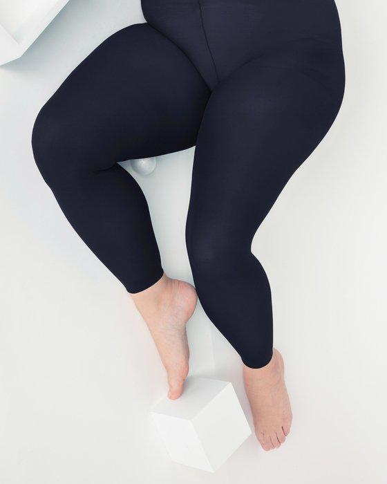 Charcoal Plus Sized Nylon/Lycra Footless Tights Style# 1041 | We Love Colors