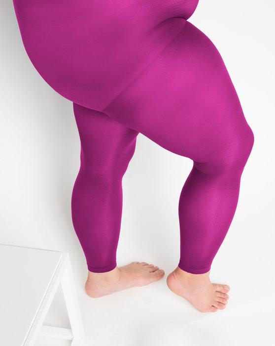 Fuchsia Plus Sized Nylon/Lycra Footless Tights Style# 1041   We Love Colors