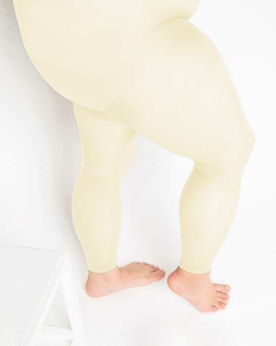 Ivory Plus Sized Nylon/Lycra Footless Tights Style# 1041 | We Love Colors