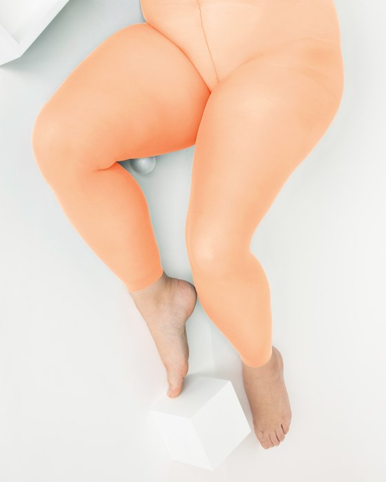 Light-Orange Womens Plus Sized Nylon/Lycra Footless Tights Style# 1041 | We Love Colors