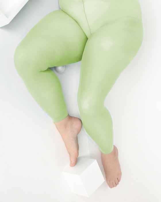Mint Green Plus Sized Nylon/Lycra Footless Tights Style# 1041 | We Love Colors