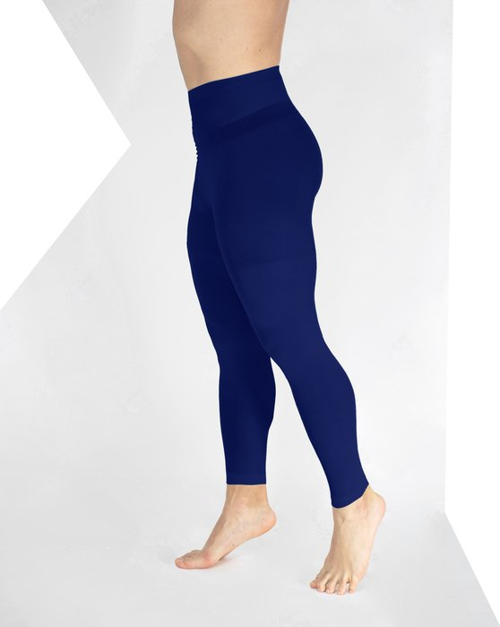 Navy Plus Sized Nylon/Lycra Footless Tights Style# 1041 | We Love Colors