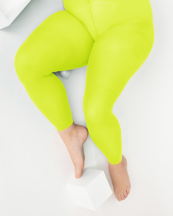 Yellow Womens Plus Sized Nylon/Lycra Footless Tights Style# 1041 | We Love Colors