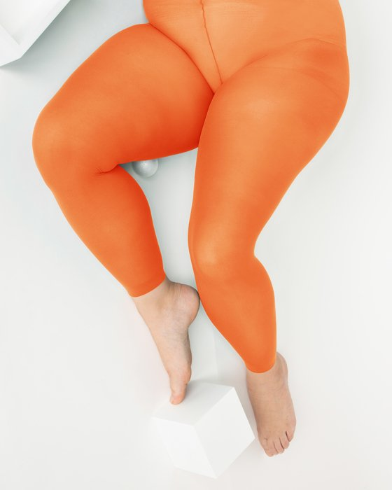 Orange Womens Plus Sized Nylon/Lycra Footless Tights Style# 1041 | We Love Colors