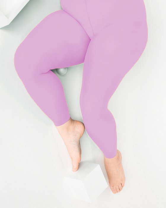 Orchid Pink Plus Sized Nylon/Lycra Footless Tights Style# 1041 | We Love Colors