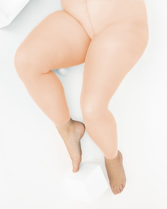 Peach Plus Sized Nylon/Lycra Footless Tights Style# 1041 | We Love Colors