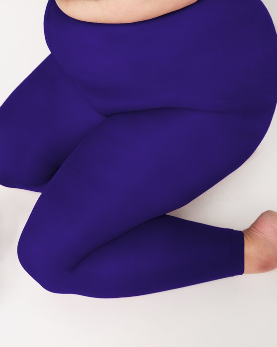 Purple Womens Plus Sized Nylon/Lycra Footless Tights Style# 1041 | We Love Colors