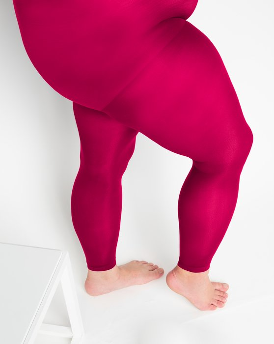Red Plus Sized Nylon/Lycra Footless Tights Style# 1041 | We Love Colors