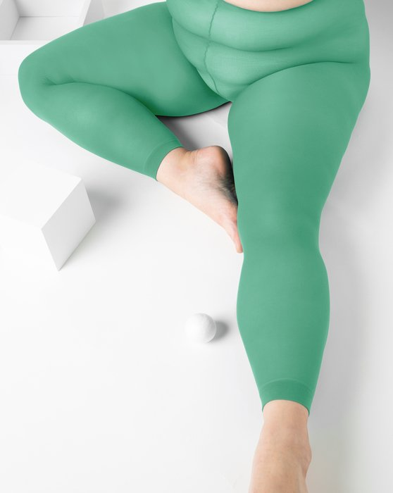Scout-Green Womens Plus Sized Nylon/Lycra Footless Tights Style# 1041 | We Love Colors
