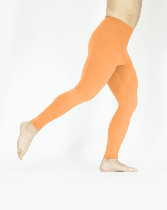 Light Orange Footless Performance Tights Leggings Style# 1047 | We Love Colors