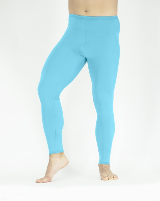 Neon Blue Footless Performance Tights Leggings Style# 1047 | We Love Colors