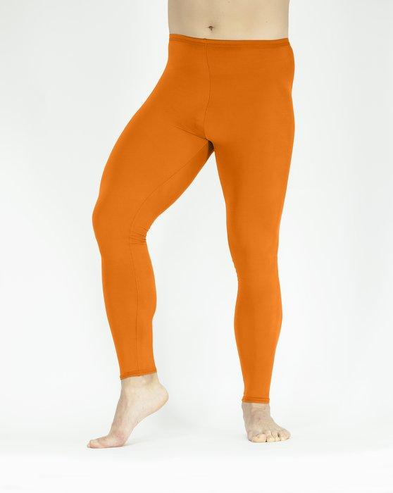 Neon-Orange Footless Performance Tights Leggings Style# 1047 | We Love Colors