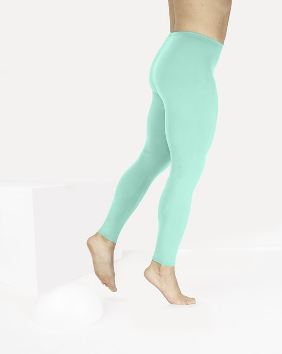 Pastel Mint Womens Footless Performance Tights Leggings Style# 1047 | We Love Colors