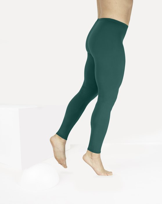 Spruce-Green Womens Footless Performance Tights Leggings Style# 1047 | We Love Colors