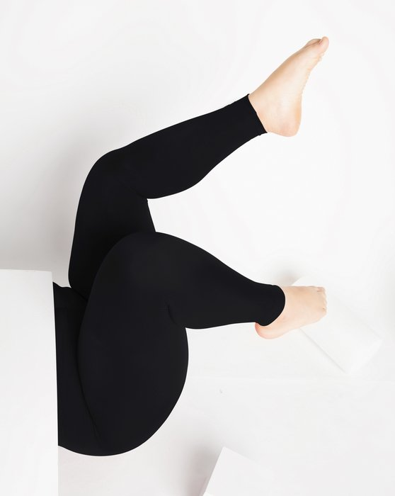 Black Womens Footless Performance Tights Leggings Style# 1047 | We Love Colors