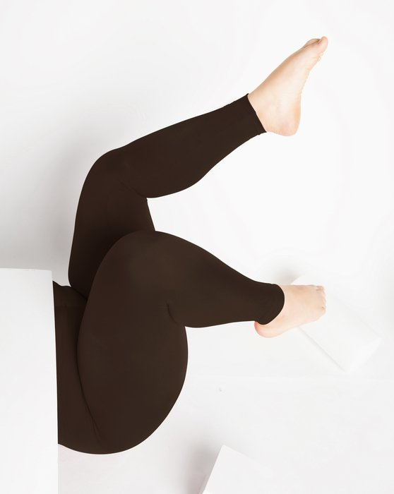 Brown Footless Performance Tights Leggings Style# 1047 | We Love Colors